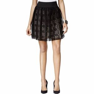 BCX Lace Overlay Skirt, Size XL
